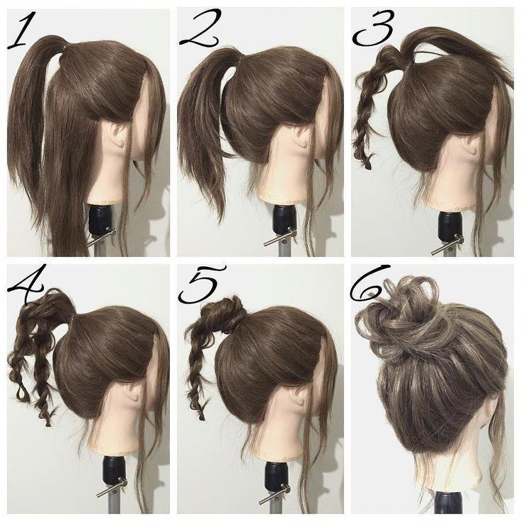 Lecture by a popular hair designer! Nowadays #easyupdosformediumhair
