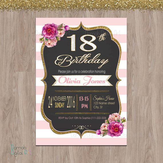 17 Best 18th Birthday Ideas Images On Pinterest
