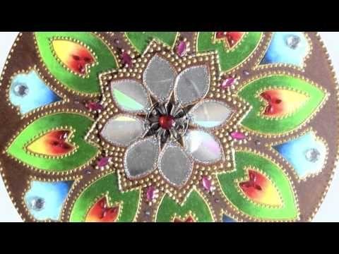 DIY - Mandala com CD - Mandala with CD - YouTube