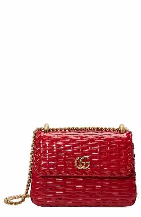 31914d9c1dc Gucci Small Linea Cestino Glazed Wicker Shoulder Bag