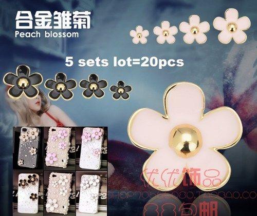 5x4 flower sets= 20 pieces  alloy diy bling phone deco etc | chriszcoolstuff - Craft Supplies on ArtFire
