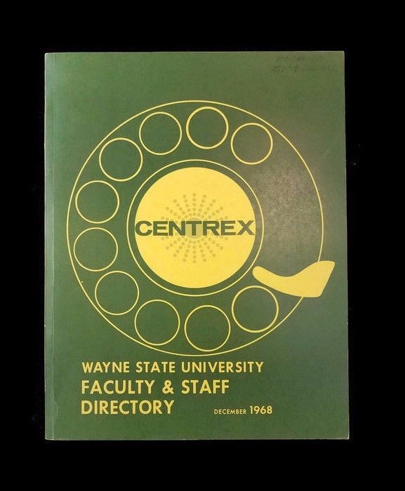 1968 Wayne State University Detroit Faculty & Staff Directory Centrex MINT