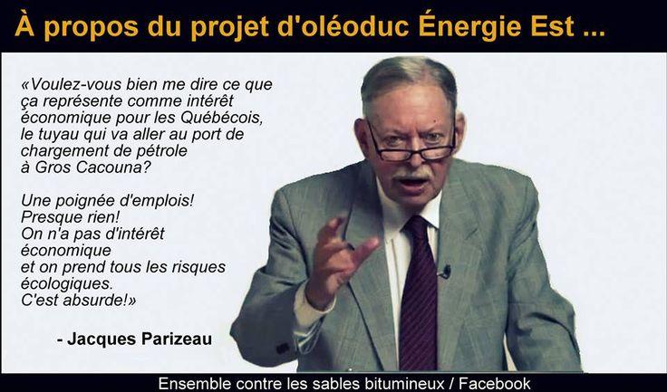 Ce projet sert à graisser les pétrolières et leurs amis et détruira l'environnement, le fleuve sacré des québécois!