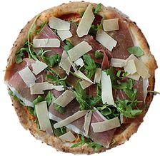 Prosciutto & Arugula - Margherita with Prosciutto di Parma, Arugula, shaved Parmigino. | Pummarola Pastificio and Pizzeria
