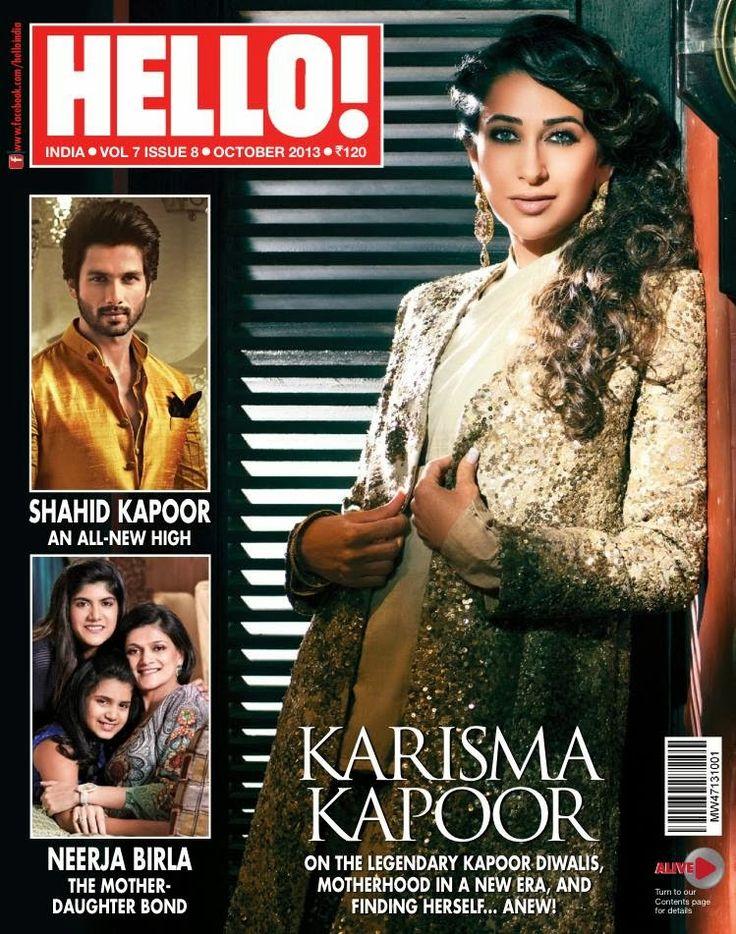 Karisma Kapoor For Hello! India in Sabyasachi