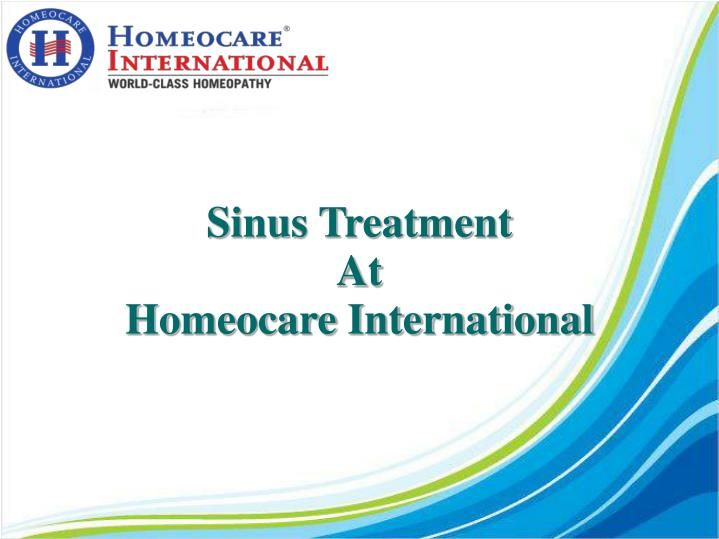 Sinusitis is an irritation of the tissue lining the sinuses that leads to an infection and may result in mucus build up and pain. Sinusitis is classified into two types such as acute and chronic sinusitis. Facial pain, nasal congestion, fever, headache, cough, tooth pain are some common symptoms of sinus. Homeopathy gives a safe and effective treatment to a wide range of sinusitis. It can be attainable at Homeocare International. So visit Homeocare International and get rid of sinusitis.