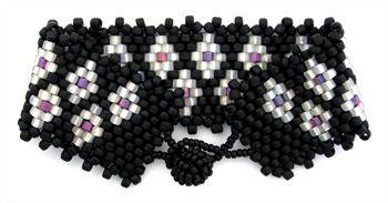 Frosty Diamonds Bracelet a beadwork project for beginners