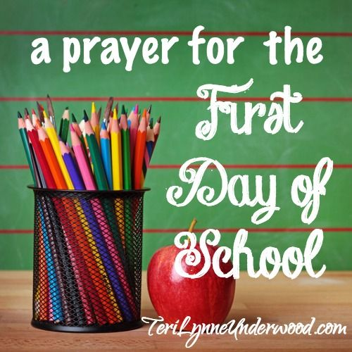 It's the first day of school, Lord. Watch over all of us — students, teachers, and moms. Guard our hearts. Focus our minds. Draw us to You.