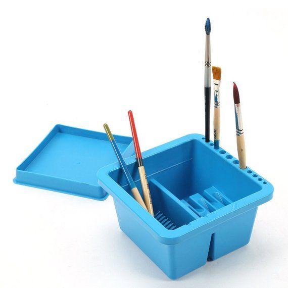 Artist Brush Basin Multi Function Paint Brush Tub With Brush Holder Paint Brushes Artist Brush Wash Brush