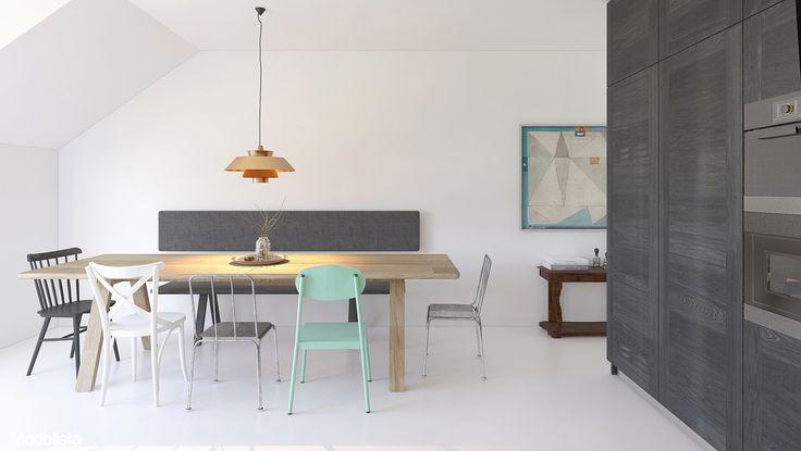 Apartment design - Mieszkanie na Biskupinie - Modelista Piotr Kalinowski