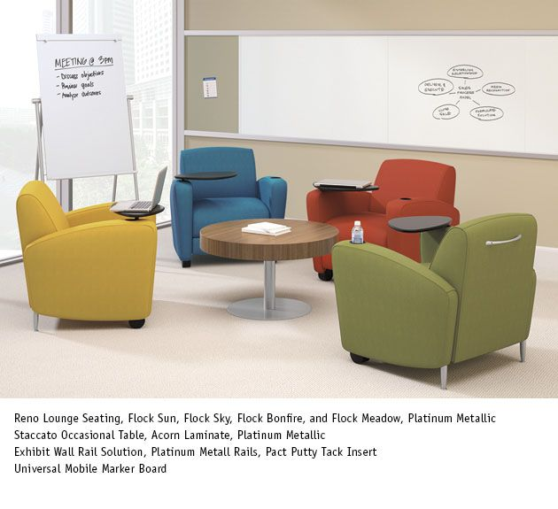 National Reno Seating With Staccato Table And Exhibit Wall