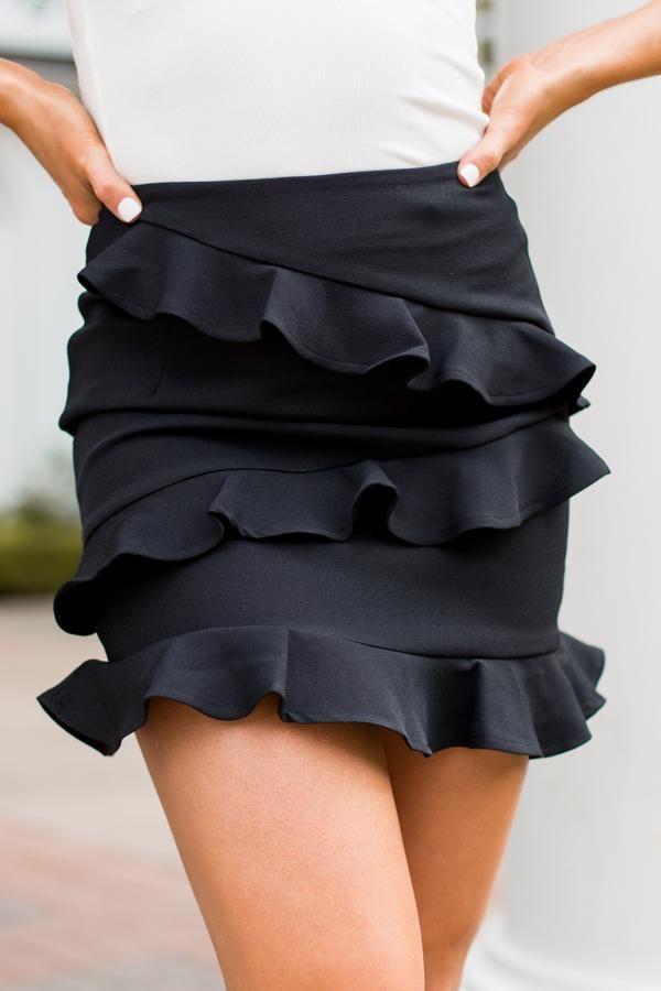 97c833868c1 Feelin  Flirty Skirt- Black – The Impeccable Pig