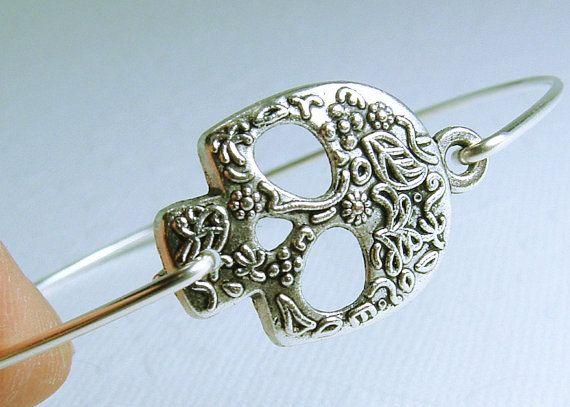 Crâne Bracelet bijoux de crâne de sucre par hazaricreations sur Etsy