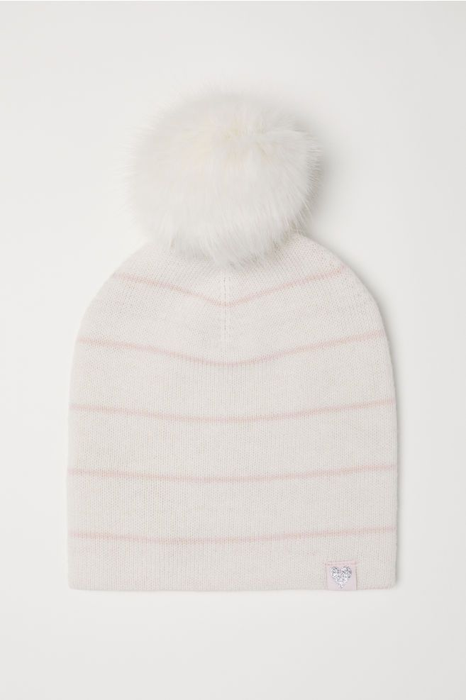 4967442a5 H&M Fine-knit Wool Hat - White | H&M - Girl | Hats, Wool, Winter hats