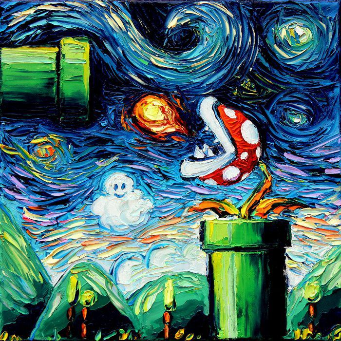 Geeky Fandom Versions of Starry Night http://geekxgirls.com/article.php?ID=8579