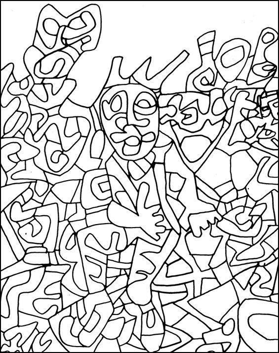 http://www.coloring-life.com/en/color-v3.php?lang=en&theme-id=977&theme=Jean Dubuffet&image=coloriage-adulte-jean-dubuffet-g-2.jpg  ------------ jean dubuffet