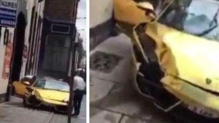Video: Lamborghini Gallardo Seharga Rp6 Milyar Penyok Tabrak Trotoar - http://www.rancahpost.co.id/20150837646/video-lamborghini-gallardo-seharga-rp6-milyar-penyok-tabrak-trotoar/