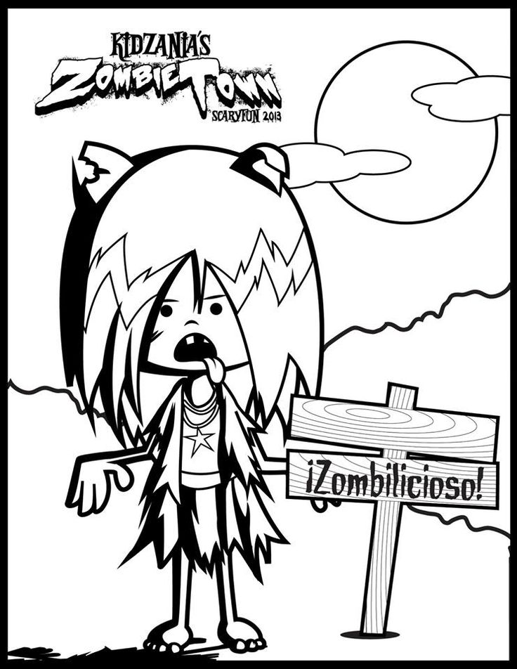 ¿Ustedes de qué color iluminarían el atuendo de Chika Zombie? #KidZania #ColorearEsKool
