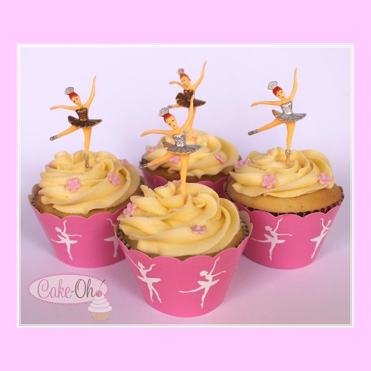 Ballerina Cupcakes - retro ballerina toppers for the prima ballerina!