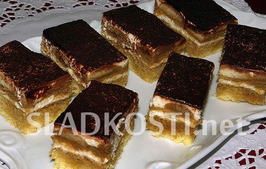 Piškotový dezert s tvarohem