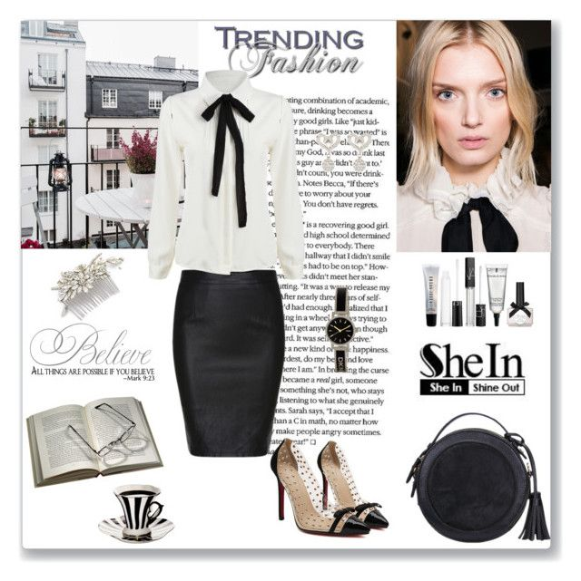 Black Girl Fashion Trends: Shein Black Split Slim PU Skirt