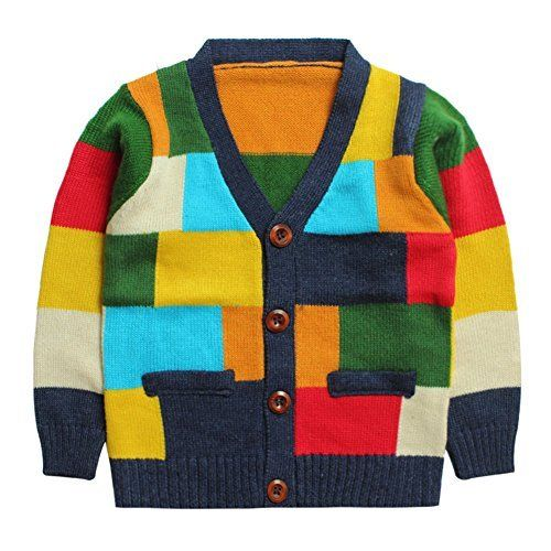 455444609793 Product review for eTree Boys  Colored Lattice Cardigan Cashmere ...