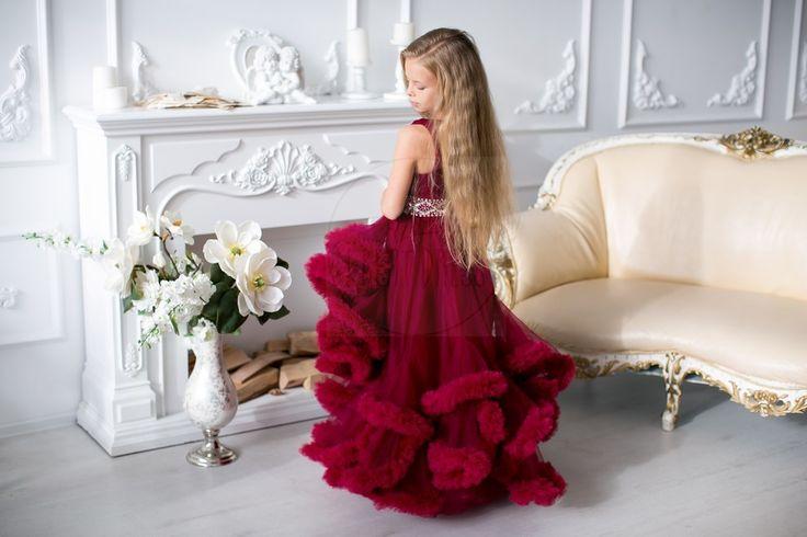 Детское платье BABY CLOUD BORDO | Прокат платьев