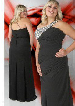 la longueur de plancher de perles noires élégantes, plus la taille des robe de bal grande taille