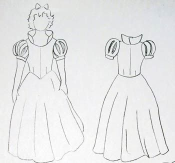 1000 ideas about patron robe on pinterest paper pieced - Comment dessiner blanche neige ...
