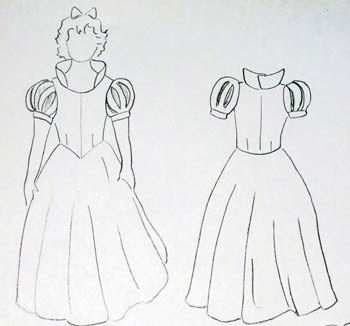 deguisement mavieenmieux Tutoriel et patron: robe de Blanche Neige