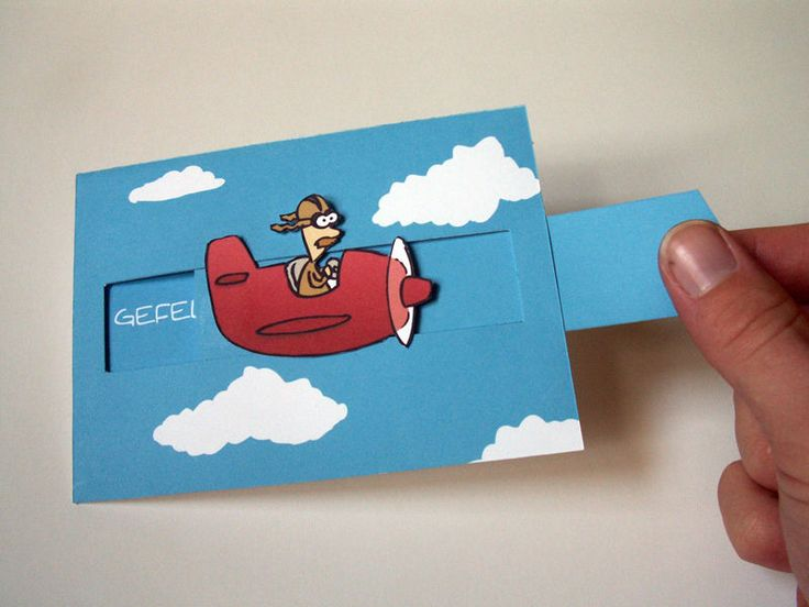 aeroplane box card | ... had this card. It requires some patient and precise cutting, but r