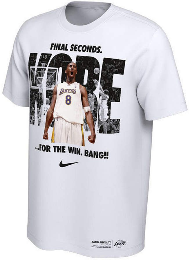 Nike Men Kobe Bryant Los Angeles Lakers Final Second T Shirt Kobe Bryant Los Angeles Los Angeles Lakers Kobe Bryant