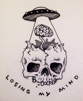 skull alien tattoo   tatuajes   Spanish tatuajes   tatuajes para mujeres   tatuajes para hombres    diseños de tatuajes http://amzn.to/28PQlav