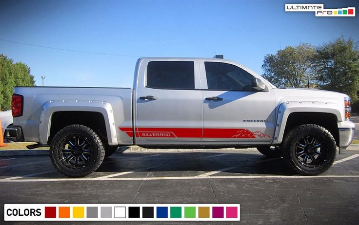 Decal Graphic Vinyl Side Door Stripe Kit for Chevrolet Silverado 1500 Off-Road #ultimateprocy1