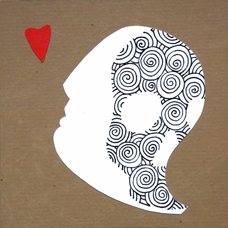 """andrea mattiello """"tatoo"""" pennarello e collage su cartoncino cm 15x15; 2014 #andreamattiello #arte #art #artecontemporanea #conyemporaryart #artist #artista #artistaemergente #pennarello #collage #cardboard #cartoncino #tecnicamista #tatoo #cuore #heart #passepartoutartgallery #passepartoutunconventionalgallery #milano"""