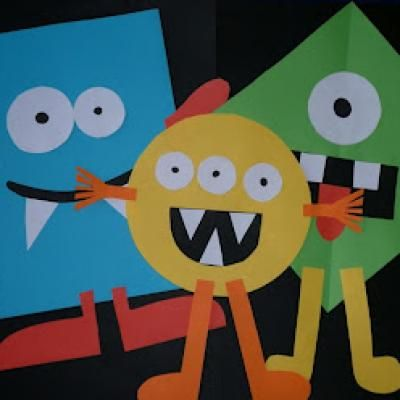 Shape Monsters {Scary Halloween Activities For Kids}, then you could write about the monsters, and you could read a book about monsters before