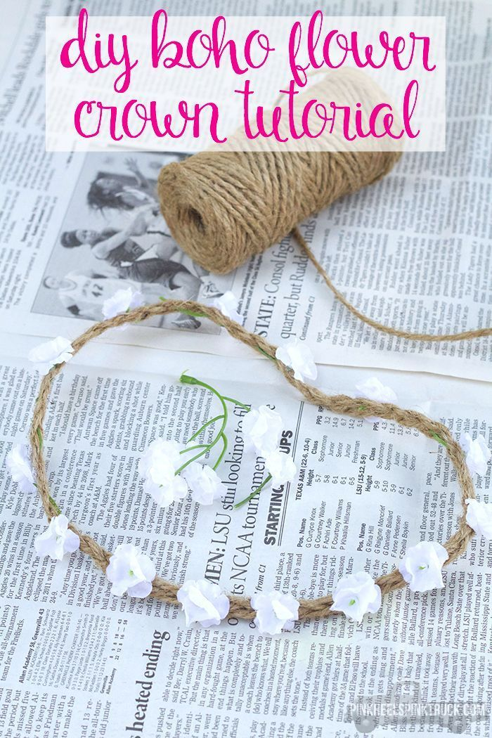DIY Boho Flower Crown Tutorial