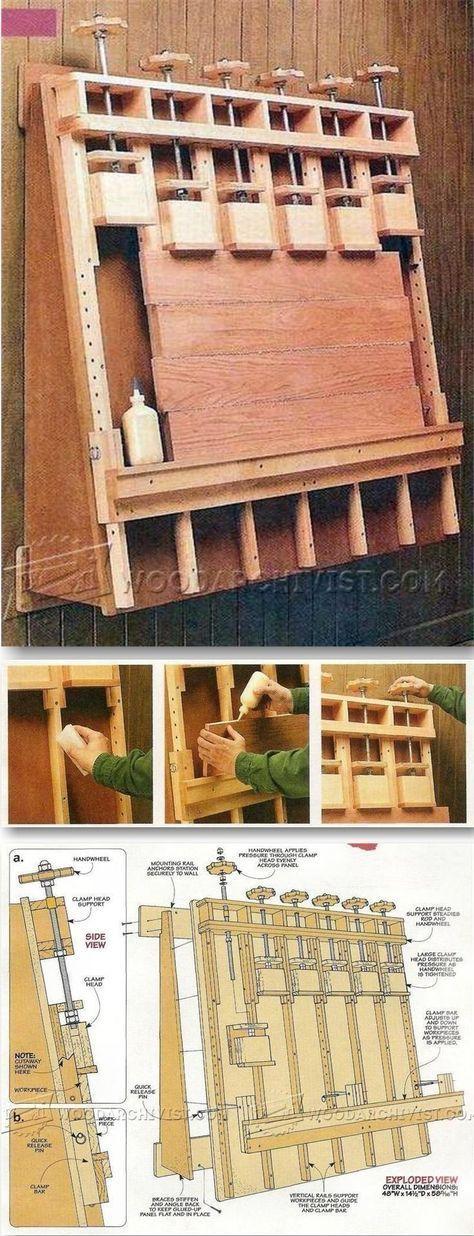 DIY Wall Mounted Panel Glue Up Press