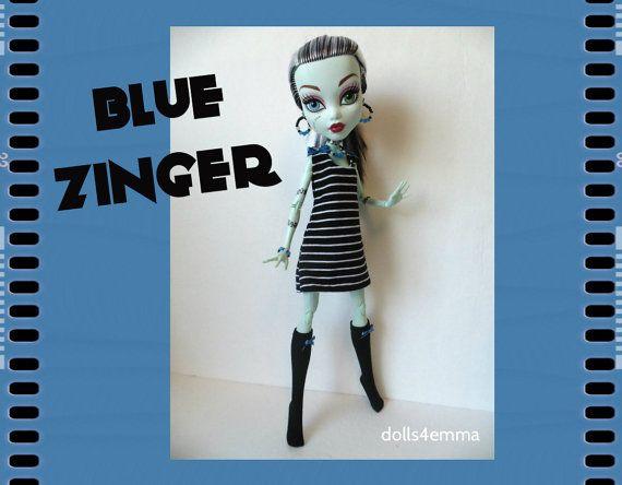 Monster High 17-inch Doll kleding - kousen, jurk + sieraden - handgemaakte aangepaste fashion door dolls4emma