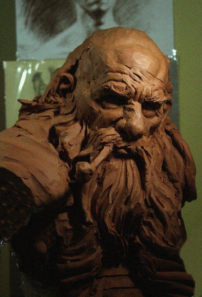 Dwarf & Rex - Traditional sculpture, Erlon Abrantes on ArtStation at https://www.artstation.com/artwork/dwarf-97a280d6-7462-4836-9f07-38e595331f02