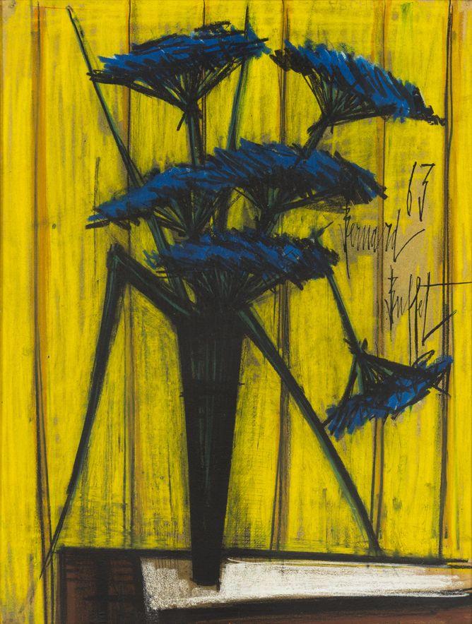 Bernard Buffet- Vase de Fleurs, 1963