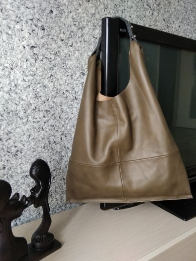 46f6f19930 Online Shop MONFERE Casual Women Hobo Bag Soft Genuine Cow Leather Fashion  Shoulder Bags Female Large Tote Bucket Shopping Handbag Liner Bag