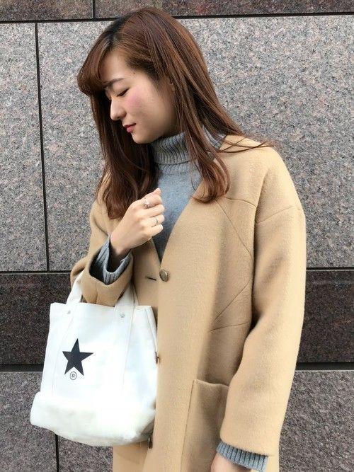 CONVERSE TOKYOスタッフです☆    メルトンコートには切り返しの星柄が刺繍されており、