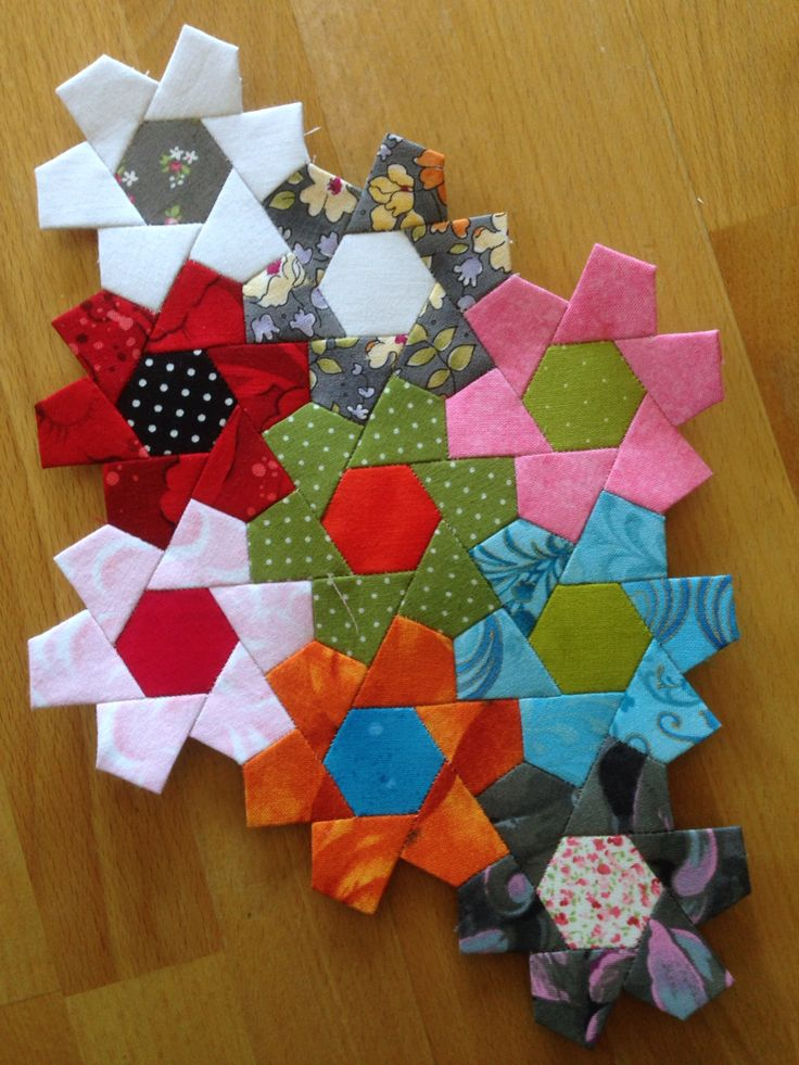 1866 Best Hexagon Quilting Images On Pinterest Hexagons