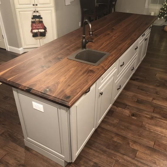 Black Walnut Kitchen Island Top Counter Top Wood Counter Etsy Walnut Kitchen Walnut Kitchen Island Wood Countertops Kitchen