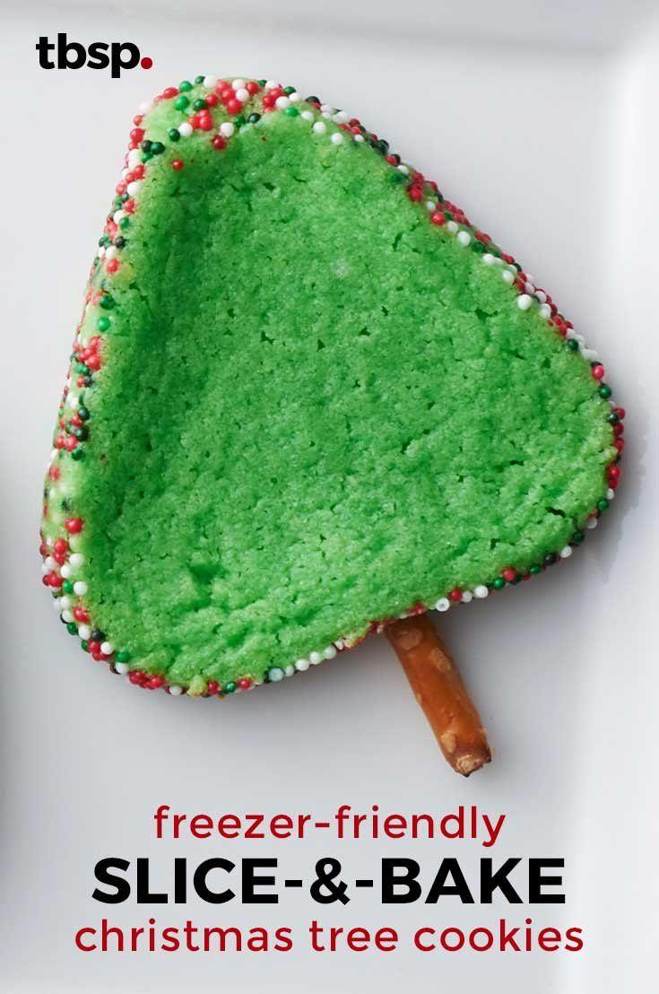 Slice-and-Bake Christmas Tree Cookies | Recipe in 2018 | Christmas ...