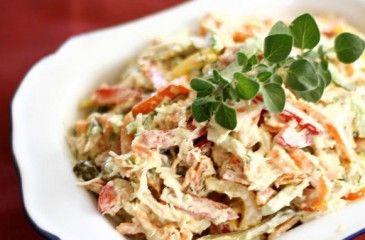 Салат с копченой колбасой - рецепт с фото. Как приготовить вкусный и простой салат из колбасы