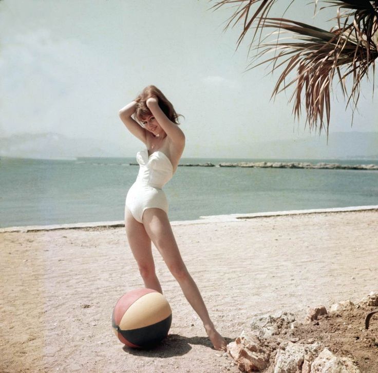 Brigitte Bardot at the 1955 Cannes Film FestivalVintage Swimsuits, Cannes Film Festivals, France, Icons, Pinup, Pin Up, Brigittebardot, Brigitte Bardot, Beach Beautiful