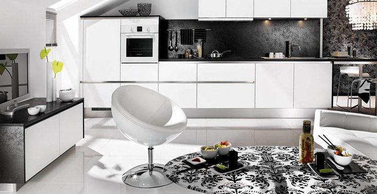 Create Delicious Dishes With Black White Kitchens Decoration Ideas. Kitchens Design Layout Featuring