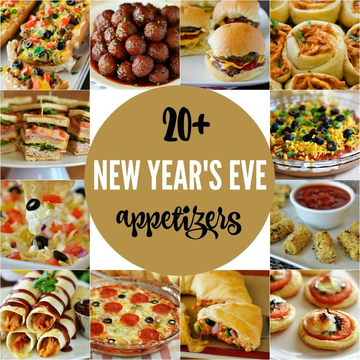 Over 20 delicious appetizer ideas for New Year's Eve!